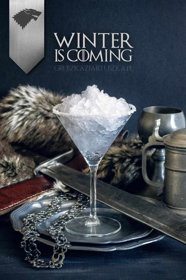 This House Stark martini | 17 Game Of Thrones Cocktails That Are Fit For A Khaleesi