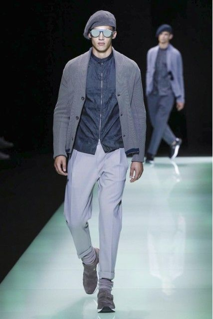 Emporio Armani Punctuated The Idea Of Modern Vintage By Partnering Up With Vespa MilanFashionWeek Mens Fashion StylesSpring