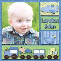 scrapbooking baby boy layout ideas - Google Search