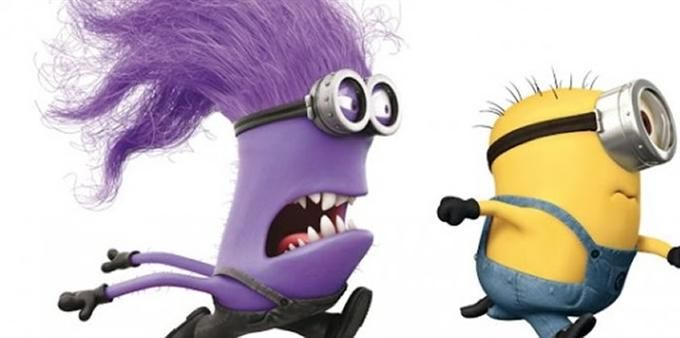 a purple minion chasing yellow minion | ... posters with ...