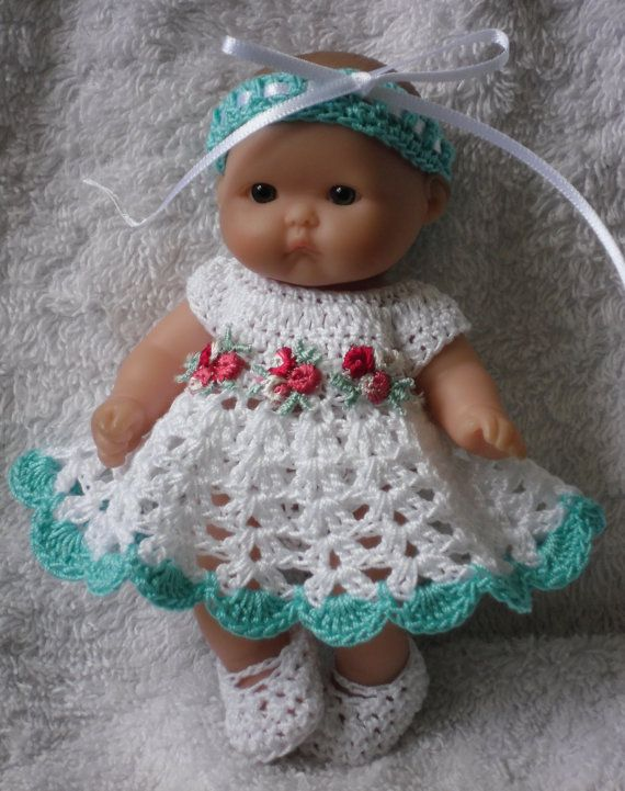 Crochet pattern for Berenguer 5 inch baby doll от petitedolls