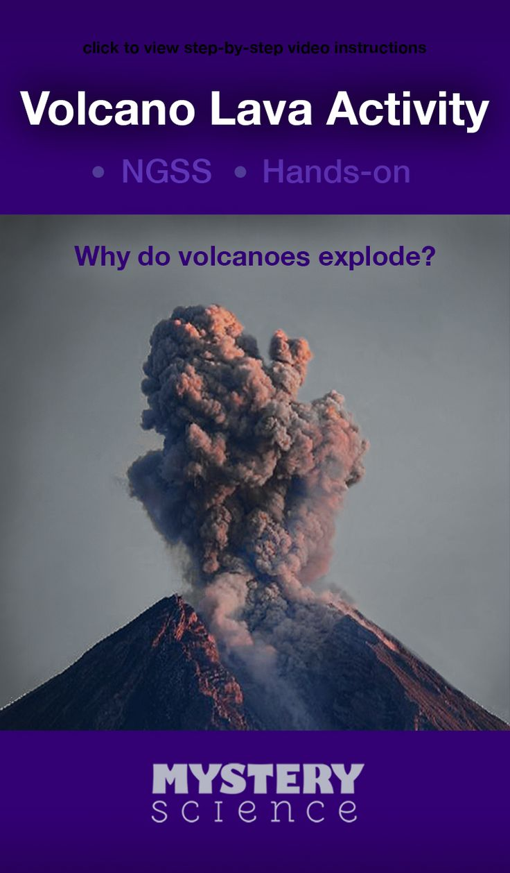 Volcano Lava Activity - free hands-on science activity for 2nd, 3rd or 4th grade elementary kids. Part of a complete unit on Rocks: Rock Cycle, Erosion, & Natural Hazards. Meets Common Core and NGSS.