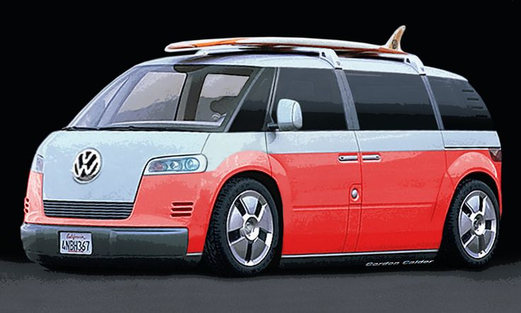 New VW Bus...I can dig it. Surfin' USA!