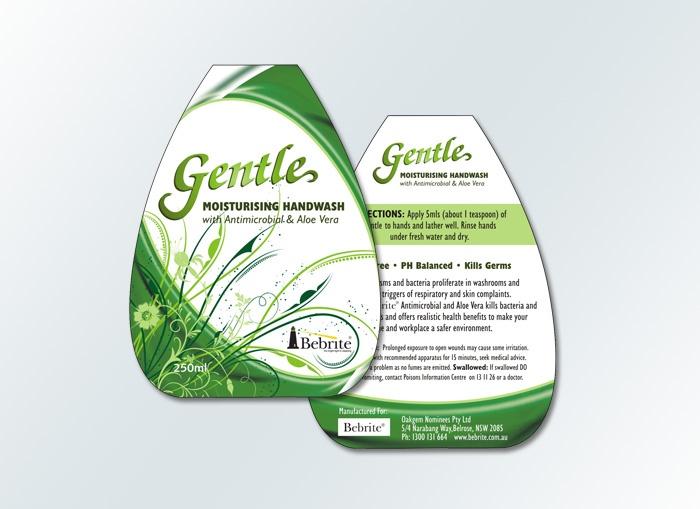 Gentle Handwash label design by www.conceptfactory.com.au