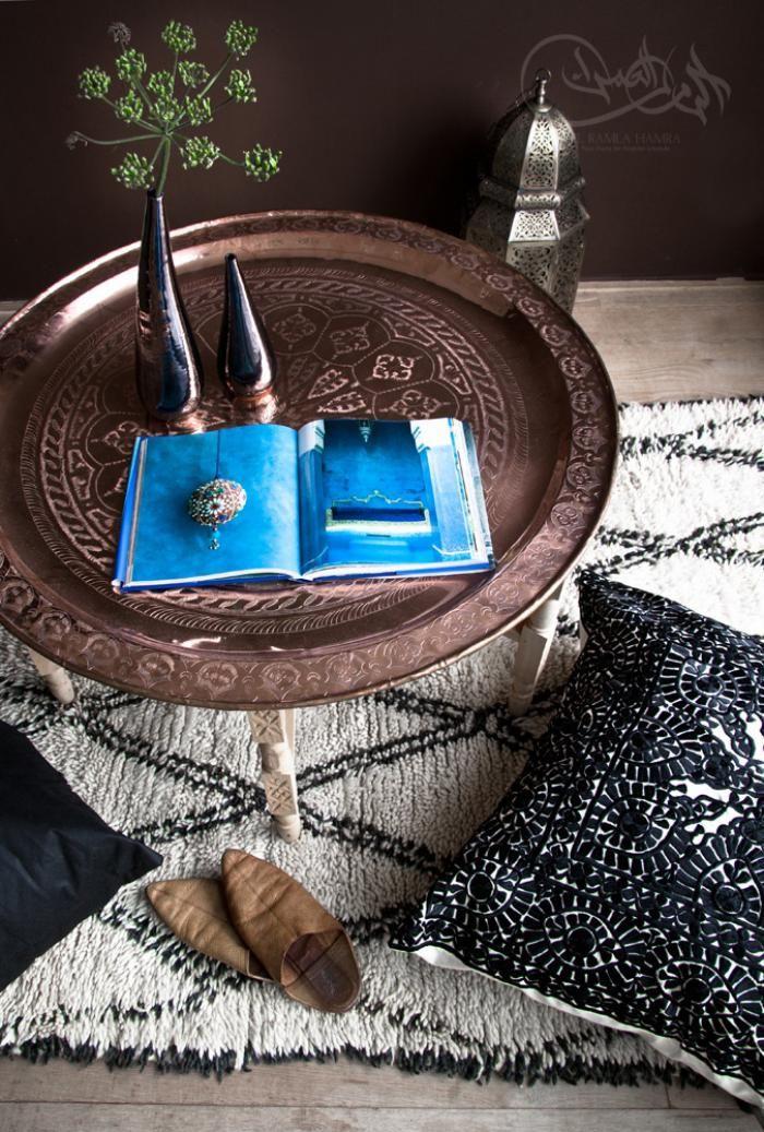 plateau marocain, décoration rustique originale