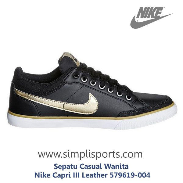 Sepatu Sneakers Casual Wanita Nike Capri III Leather ORIGINAL 579619-004 www.simplisports.com http://simplisports.com/Sepatu-Sneakers-Nike-Indonesia/pusat-penjualan-pemasaran-sepatu-sneakers-casual-nike-asli/Sepatu-Sneakers-Casual-Wanita-Nike-CapriIII-Leather-579619-004
