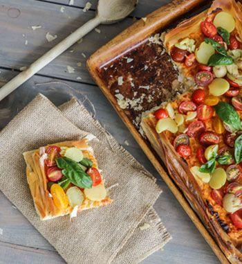 Potato and Roasted Red Pepper Tart | EarthFresh