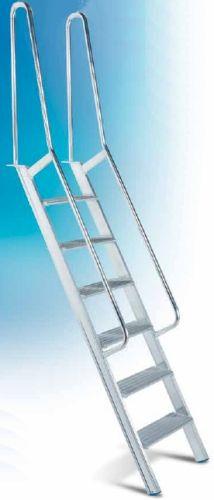 Scala per Soppalco in Alluminio con Gradini piani Corrimano m.1 [SCASOPF] - 241.40EUR : GSEuromarket, Elleci S.r.l.