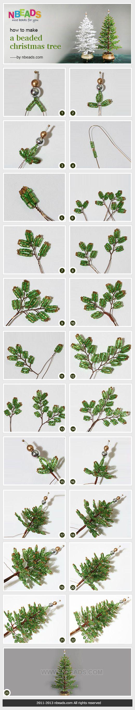 How to Make A Beaded Christmas Tree photo tutorial