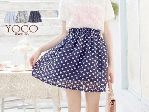 LadyIndia.com # Mini Skirt, Designer Heart Print Pattern Chiffon Mini Skirt, Skirts, Mini Skirt, Western Wear, https://ladyindia.com/collections/western-wear/products/designer-heart-print-pattern-chiffon-mini-skirt-korean-fashion