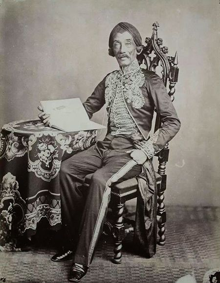 Raden Saleh, a Javanese romantic painter who pioneered modern Indonesian art (c. 1872)