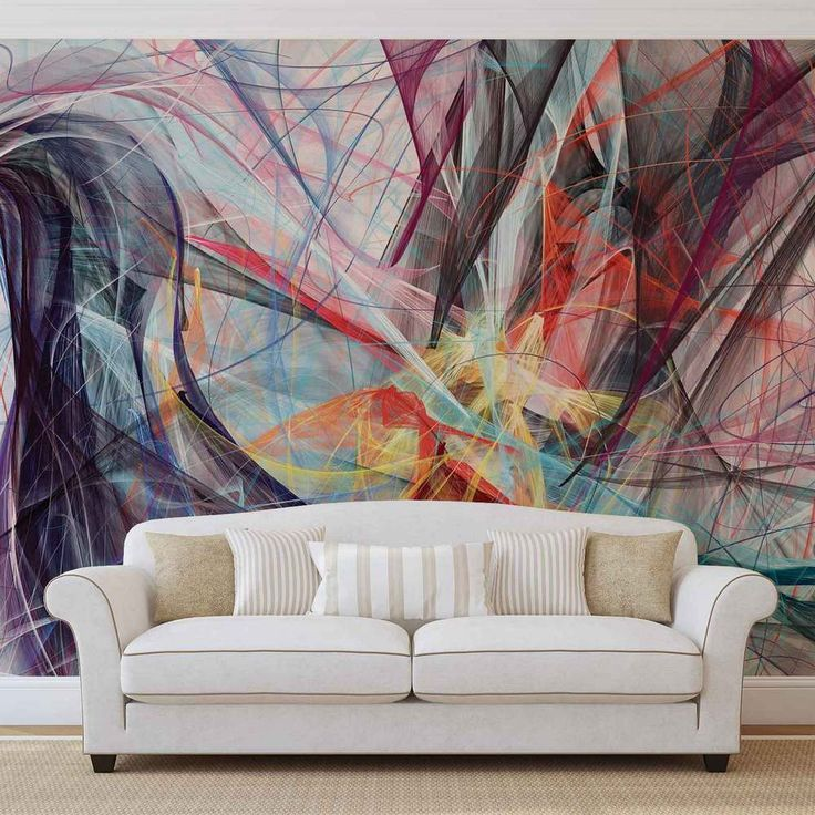 "Photo wallpaper (wall murals) offer an amazing and easy way to completely update, transform, and revolutionise a room! Each mural is supplied in one or more wallpaper strips which join together to make a giant image on your wall. With various different photo wall mural sizes you can choose to have a stunning ""full-wall"" photo, or choose a smaller image for an interesting focal point. This Modern Abstract Art photo wallpaper mural, is part of the ..."