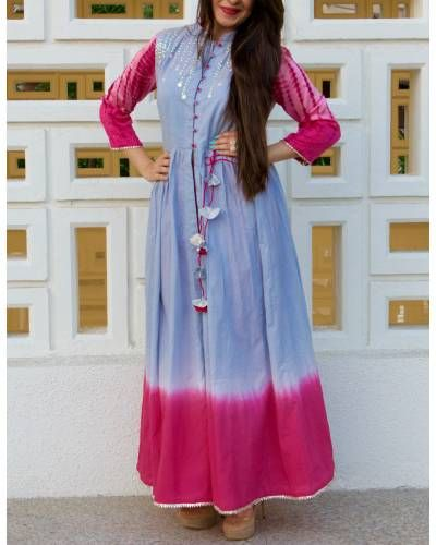Grey With Pink Ombre Tunic I Shop at :http://www.thesecretlabel.com/shruti-jain
