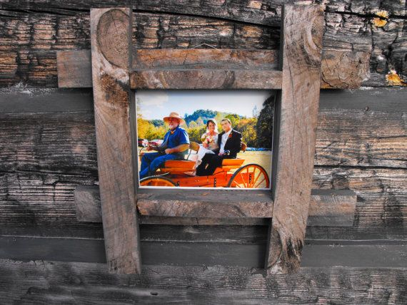 Barn Wood Frame for and 8x10 print photo or by BurlapSax on Etsy