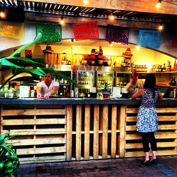 El Loco at Slip Inn, King St Wharf. A pub with great tacos, tortas, etc. El Loco at this spot was supposed to be a pop-up but people loved it so much, it's just stayed. There's a sweet outdoor area in the back too.