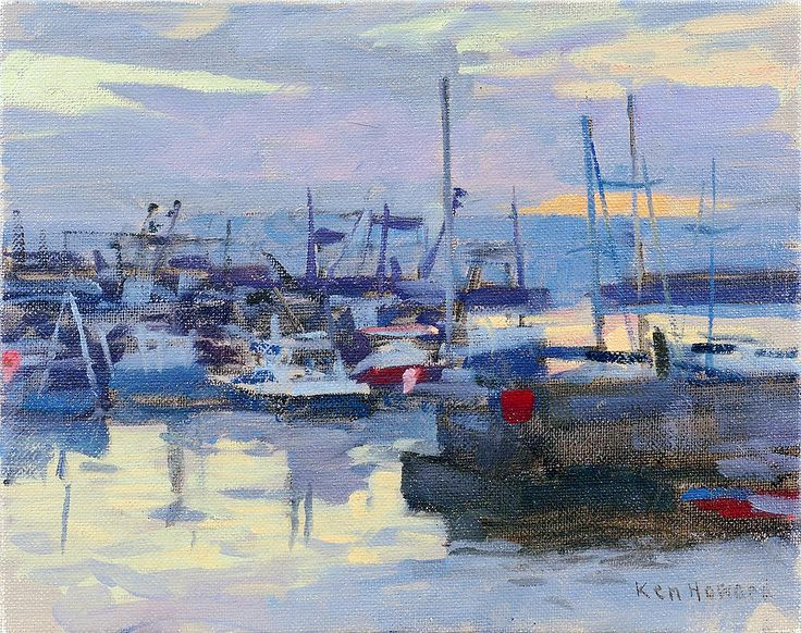 "howard ken dawn light newlyn 1 (from <a href=""http://www.oldpainters.org/picture.php?/27532/category/12032""></a>)"