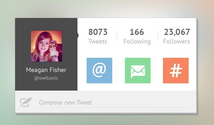 Twitter UI Widget Design