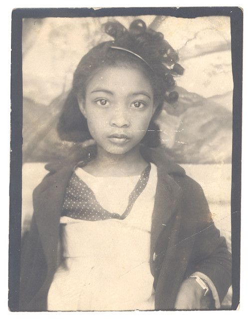 Photobooth Portrait of a Girl, ca 1940