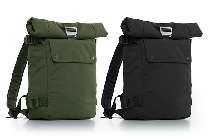 Bluelounge small backpack comes in Green and Black.