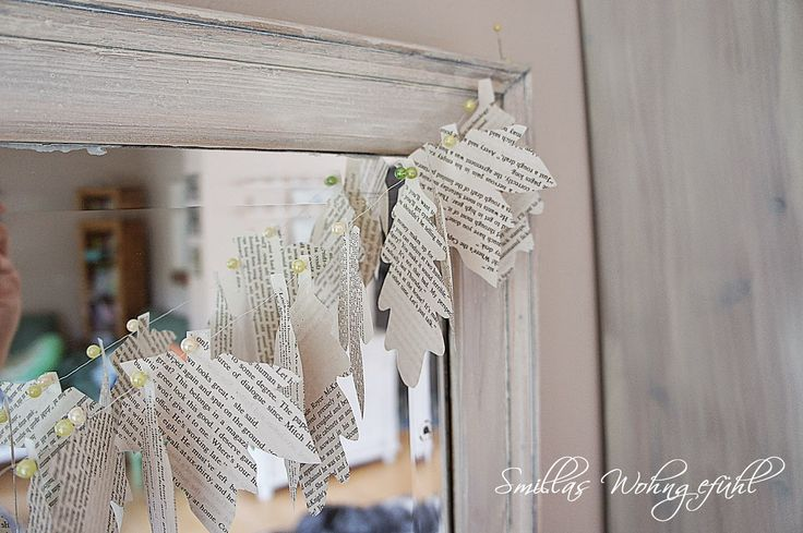 Girlande aus Buchseiten / Garland made from book pages / Upcycling