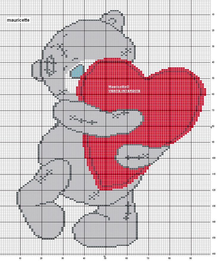 Teddy x-stitch