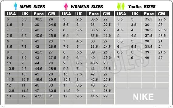 Swarovski Nike Air Max 270 Customized With Swarovski Xirius Etsy Nike Shoes Size Chart Nike Shoe Size Shoe Size Chart Kids