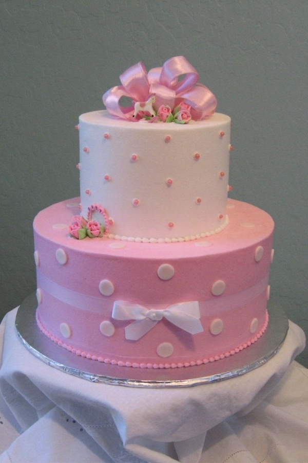 I want this cake at my shower.. just change to blue if it's a boy :)