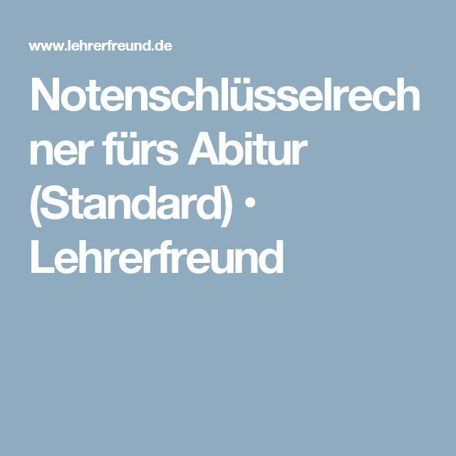 Notenschlüsselrechner fürs Abitur (Standard) • Lehrerfreund