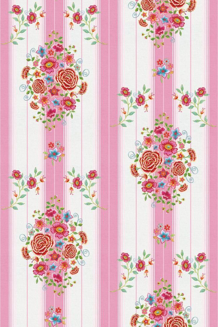 PiP Studio Behang - Embroidery Pink