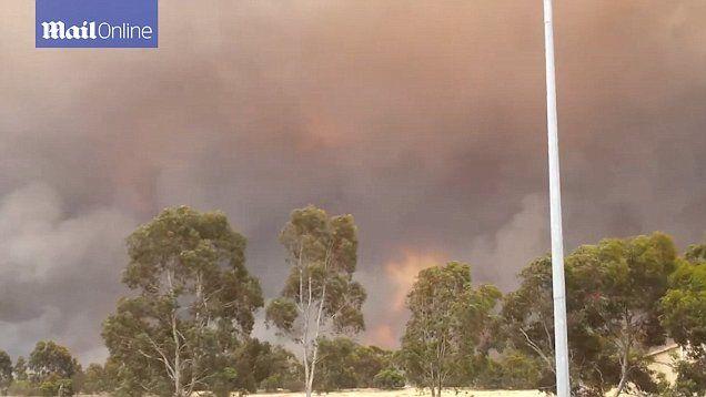 Number of dangerous bushfires burning near Adelaide, South Australia.