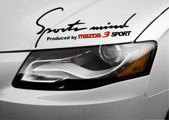 Car Window sticker Honda,JDM Fits Toyota Sports mind decal hood or body decal