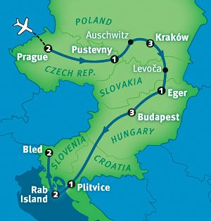 """Rick Steves' Best of Eastern Europe in 16 Days. Starting in beautifully-preserved Prague, you'll experience the rich diversity of Eastern Europe, from the energetic cities of Kraków and Budapest to tradition-rich """"back door"""" towns and villages across the Czech Republic, Poland, Slovakia, Hungary, Croatia, and Slovenia."""