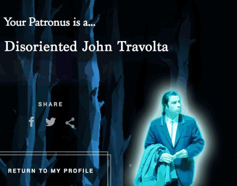 Our Patronus result was weird... #pottermore