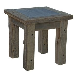Reclaimed Barn Board End Table - ASB Conestoga. 24w x 24d x 24h. Available for order at Warehouse 74.