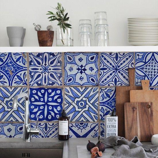 17 beste idee n over keuken behang op pinterest vintage behangpapieren muur grenzen en - Tegels van cement saint maclou ...