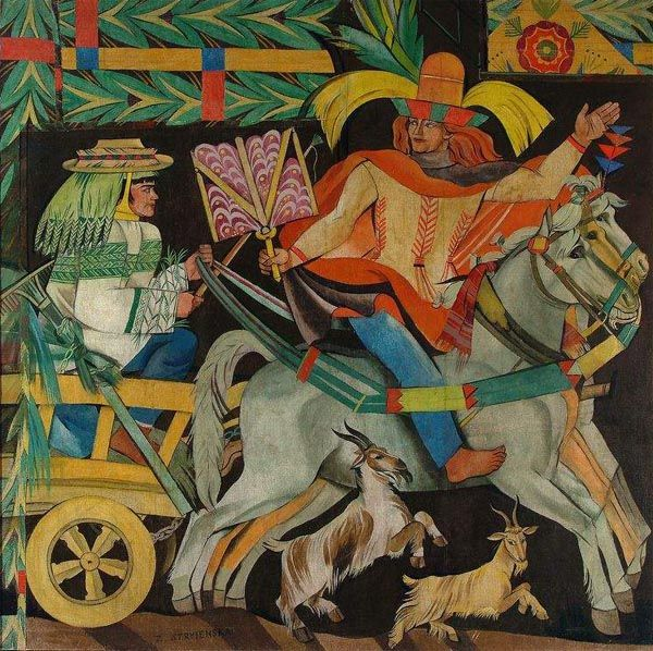 "Zofia Stryjeńska (Polish, 1891-1976), fragments of ""Korowód Miesięcy"" (""Procession of Months""), a project meant to depict Slavic months (Slavic customs throughout the year)."