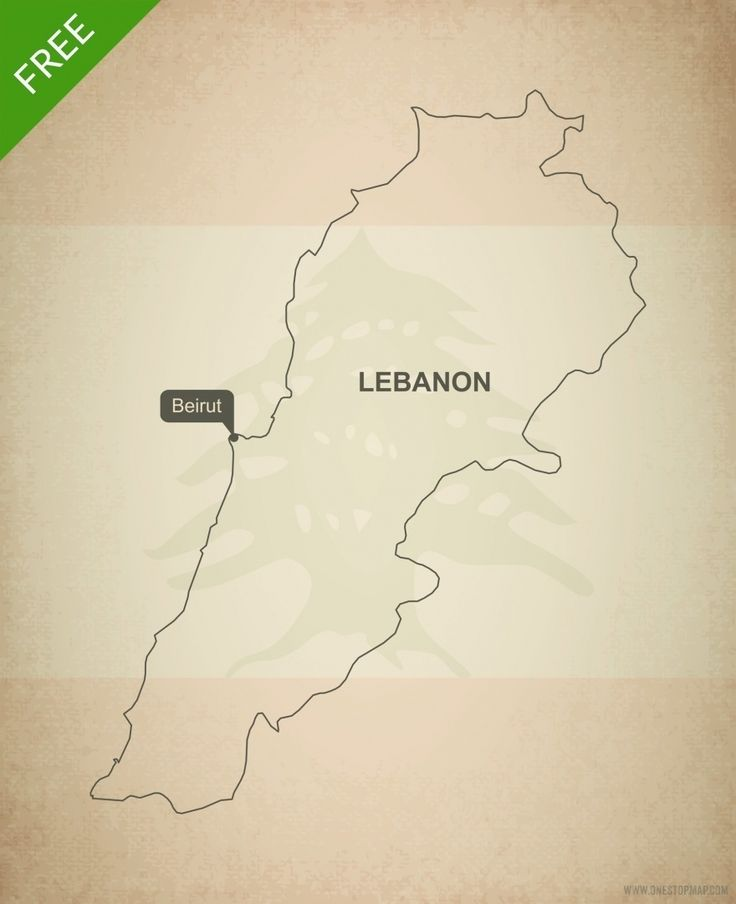Free vector map of Lebanon outline 15