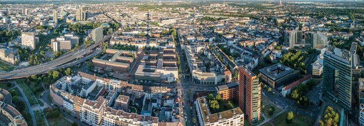 Düsseldorf Bilk - The Bilk area of central Düsseldorf in Germany shot from the Rhine Tower. Instagram || Twitter