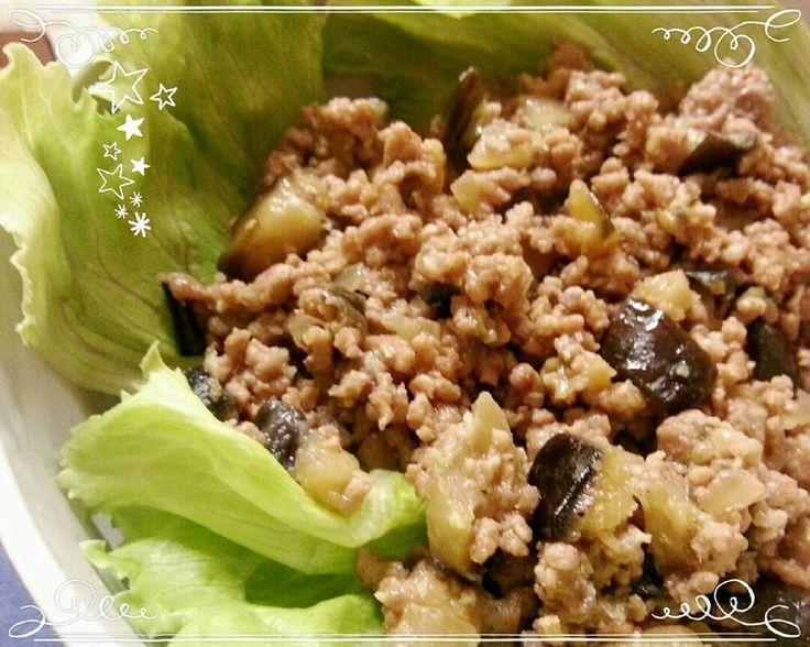 なすと挽肉で☆うま味噌どんぶり。 by ♪霞草♪ [クックパッド] 簡単おいしいみんなのレシピが217万品