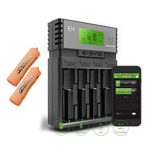 ESYB E4 Battery Charger,APP Bluetooth Function&5V USB Out... http://www.amazon.com/dp/B01EKTLRF8/ref=cm_sw_r_pi_dp_28zoxb0WYPJEZ