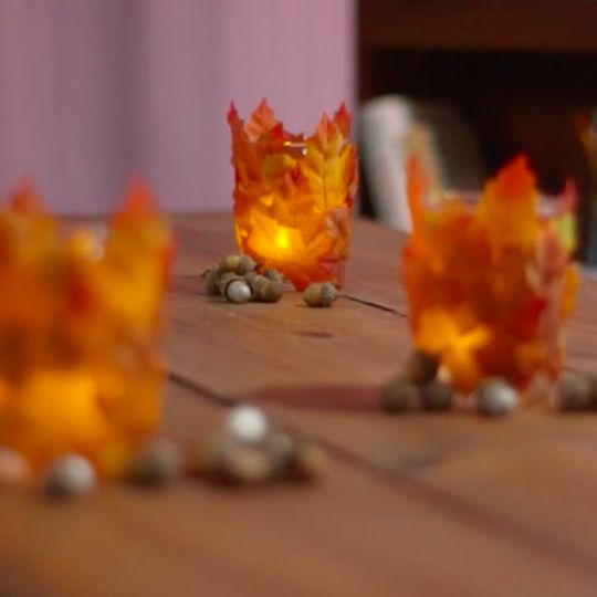 "Foraged Fall Lanterns. Looking for a fun, Fall lantern decoration? This seasonal candle holder  will ""leaf"" you glued to your screen."