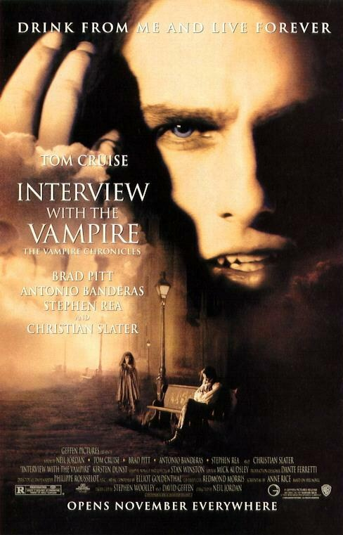 Interview with the Vampire ~ 1994 ~ Tom Cruise, Brad Pitt, Antonio Banderas, Stephen Rea & Christian Slater ~ awesome movie
