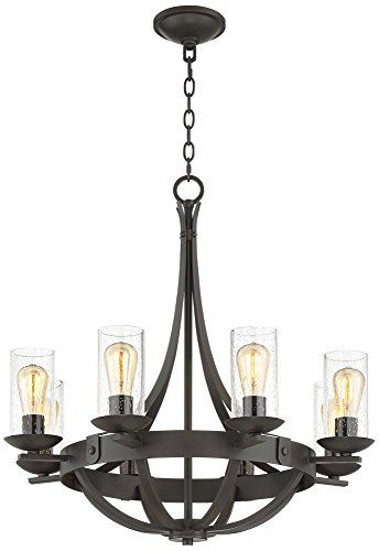 Rondeau 28″ Wide Bronze 8-LED Chandelier