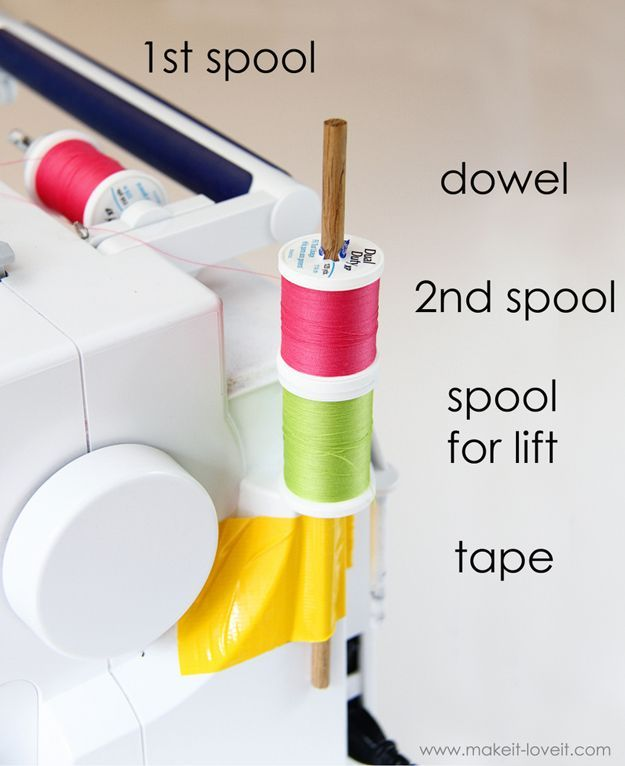 Double Needle Sewing: Double Needle Thread Hack | Sewing Hack Tips and Tricks by DIY Ready at http://diyready.com/sewing-ideas-life-hacks/