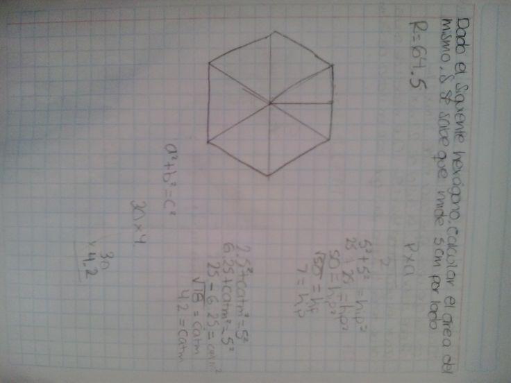 Matemáticas. Sesión 4. Aplicación del teorema de pitágoras en la resolución de problemas que implican figuras geométricas. Como encontrar el área de un hexágono sólo con su lado. Lograron resolverlo :)