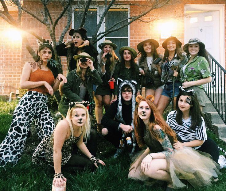 Safari Theme, Safari Theme DIY, Halloween Costumes, Giraffe, Zebra, Cheetah, Lion. Face Paint Giraffe Face Paint Cheetah Face Paint Zebra Face Paint Lion Face Paint Safari, Animals, Tourists DIY Face Paint DIY, 2017 costumes. Safari costume DIY. Group Costume. Group DIY. Face Paint. Halloween. Animals. Tiger. Giraffe. Safari. Group Costume
