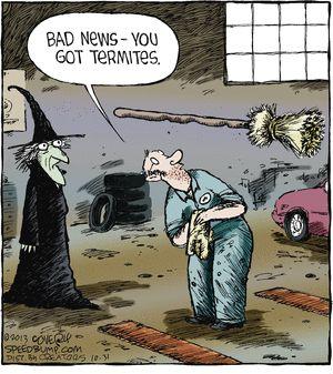 halloween humor speed bump mechanics got bad news for witch - Halloween Humor Jokes