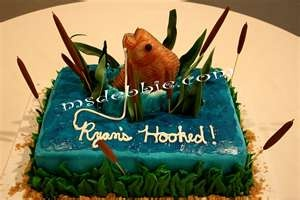 """Image detail for -... SugarArt: Groom's cake for a fisherman.. """"Hooked"""" a fishing cake"""