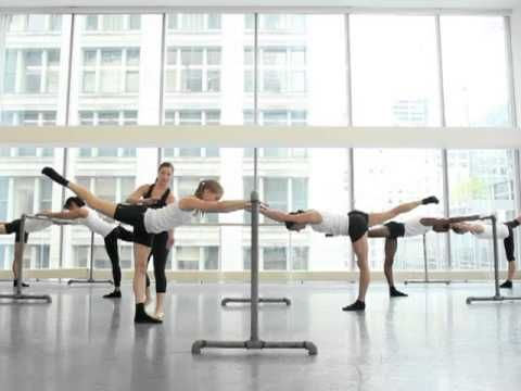 ▶ Advanced Ultra Barre Class Demo with Joffrey Ballet Dancers - YouTube