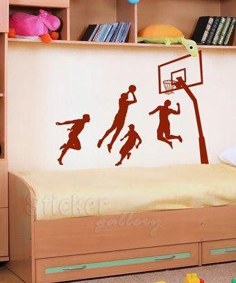 Εφηβικά και Παιδικά Αυτοκόλλητα Τοίχου - Basketball Players 08 - διακόσμηση παιδικού δωματίου με wall stickers Decorative Wallstickers for kids and teenagers